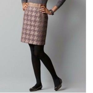 Loft Pencil Skirt Oversize Houndstooth Boucle 10